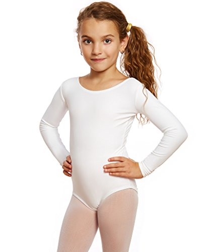 Leveret Girls Long Sleeve Leotard Variety of Colors (2-14 Years)