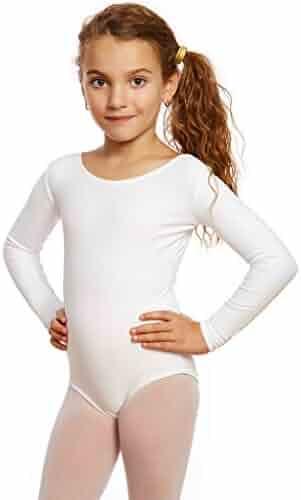 Leveret Girls Leotard Basic Long Sleeve Ballet Dance Leotard (2T-14 Years) Variety of Colors