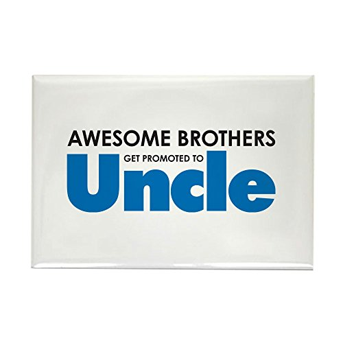 CafePress Awesome Brothers Get Promoted to Uncle Magnets Rectangle Magnet, 2