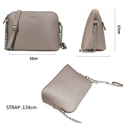 Handbag Wallet Messenger Fashion Elegant Zipper Chain Mini Jones Leather Party Bag Purse Evening Shoulder Travel Phone Crossbody Rigid Gold Women's Ladies Black David Small Bag PU qRgx1wTw8
