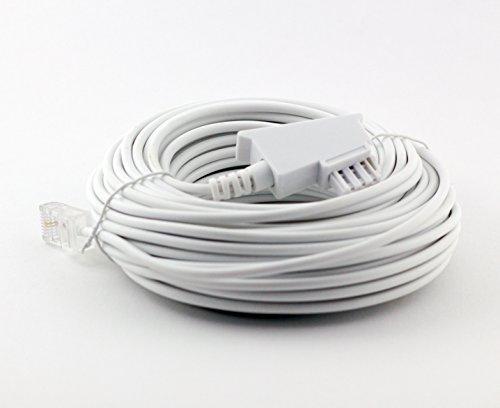 15m Weiss VDSL ADSL Kabel für den IP basierten DSL Anschluss TAE RJ45 VoiP Fritzbox Speedport