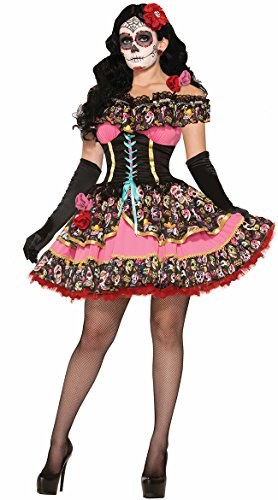Forum Novelties Women's Day Of Dead Senorita Costume, Multi, Medium/Large -