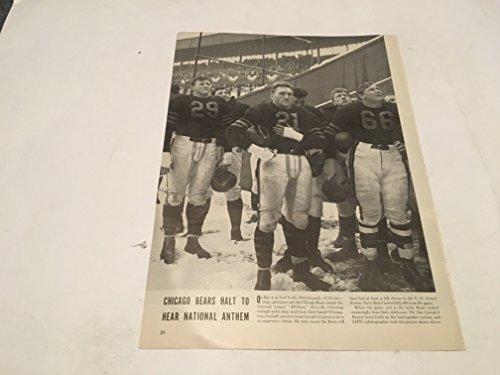 1940S CHICAGO BEARS HALT TO HEAR NATIONAL ANTHEM FRAMEABLE - Chicago 1940