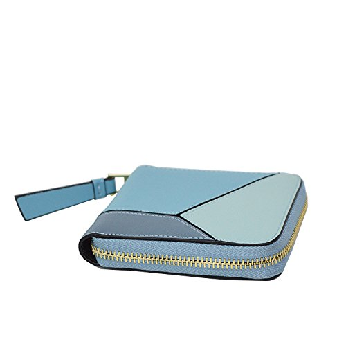 Wallet Fashion Casual Ladies Purse Lightblue Women's PU Leather Hangbags Ap0wq