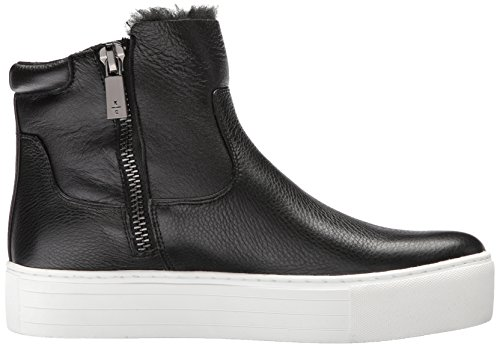 Kenneth Cole New York Women's Janelle 2 Platform Bootie With Embroidery Shearling Sneaker Black 1evdGqTH