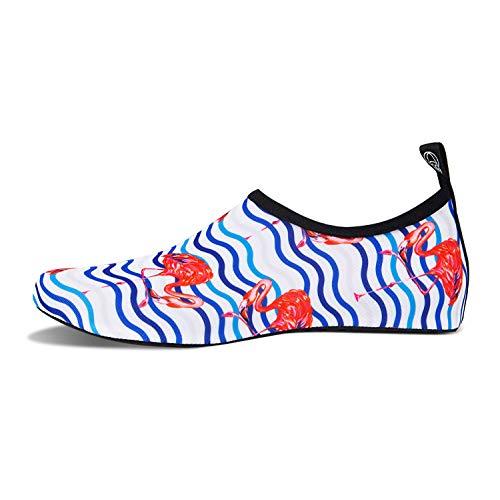 Bagno Donna Acquatici Swim Surf Per A Immersione Dell'acqua Acqua Da Piedi White Scarpe Spiaggia Casa Mare Beach Scarpette Antiscivolo Yoga bird Uomo Nudi Pantofole HqtAOw7R
