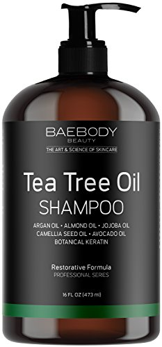 Baebody Tea Tree Oil Shampoo - Helps Fight Dandruff, Dry Hair and Itchy Scalp. For Men and Women. 16 fl oz. by...
