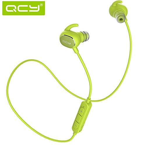 Wireless Headphone,QCY Wireless Extra Bass Sport Headset Ultra Lightweight Bluetooth 4.1 CVC 6.0 Noise Cancelling IPX4 Sweatproof