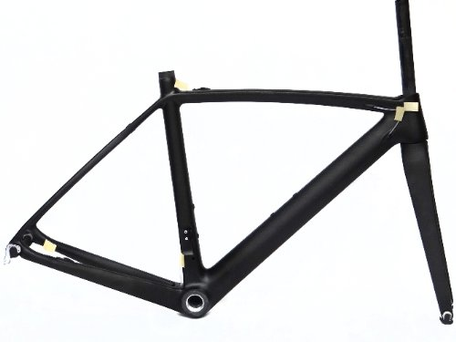 フルカーボン3 Kマットマット700 Cロードバイク自転車BSAフレームフォーク56 cm B00G1K625U