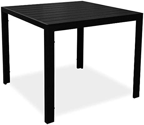 KMH , cuadrada negro imitación de madera de mesa Tuco 90 x 90 cm ...