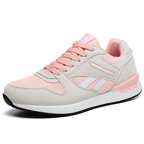 Casual À Maille Baskets Lacets Jrenok Chaussures Femmes Unisexe Printemps Basket Chaussure Plateforme Rose Flats En qxRIvg