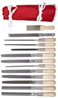 Simonds 13 Piece All Purpose Hand File Set with Handles, American Pattern