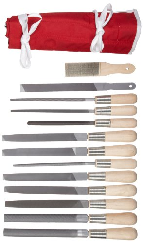 Simonds 13 Piece All Purpose Hand File Set with Handles, American Pattern by Simonds