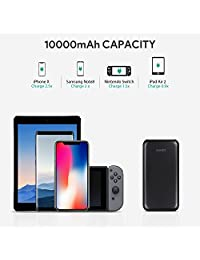 AUKEY Power Delivery Power Bank, 10000mAh PD Power, 18W USB C Cargador portátil con carga rápida 3.0 Compatible iPhone Xs   XS Max, Píxel, Samsung, Nintendo Switch, etc.