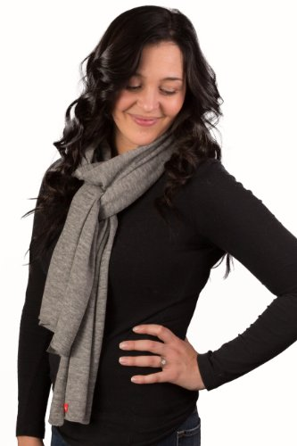 JD Love Women's Silk and Cashmere Scarf 76''X 20'' Grey by Wet Brush (Image #2)