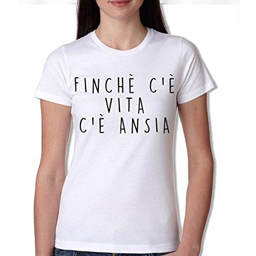 TSHIRT DONNA - FINCHE' C'è VITA C'E' ANSIA