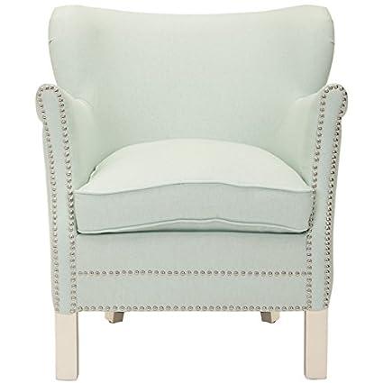 Safavieh Mercer Collection Connie Robins Egg Blue Club Chair
