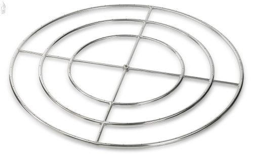 American Fireglass Round Natural Gas Fire Pit Burner Ring, 48-Inch