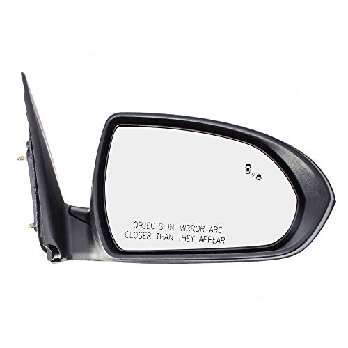 Passengers Power Side View Mirror Heated w/Blind Spot Detection Replacement for 17-18 Hyundai Elantra Sedan -