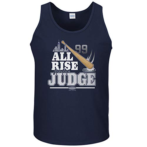 New York Baseball Fans. All Rise for The Judge Navy T-Shirt (Sm-5X) (Tank Top, Medium) - New York Womens Tank Top
