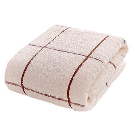 Toallas de baño de algodón puro Claee es más gruesa, absorción de agua, suave