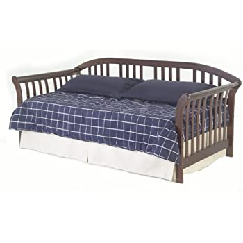 salem complete wood daybed with euro top deck and trundle bed pop up frame mahogany finish twin