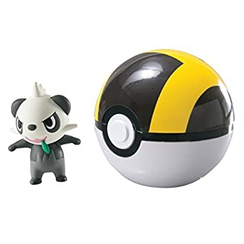 Pokemon Clip n Carry Pokeball Pancham /& Ultra Ball Figure Set