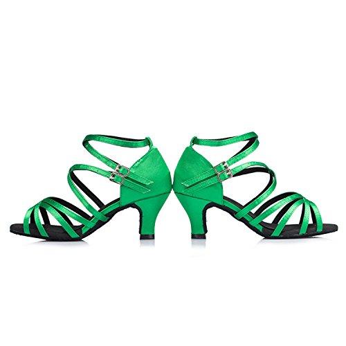 Miyoopark de femme Green heel Salle bal 6cm w00r56Ofq