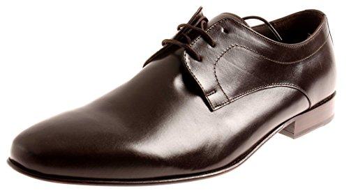 Manz Herrenschuhe Schnürschuhe Leder Schuhe Business Exclusiv Dunkelbraun