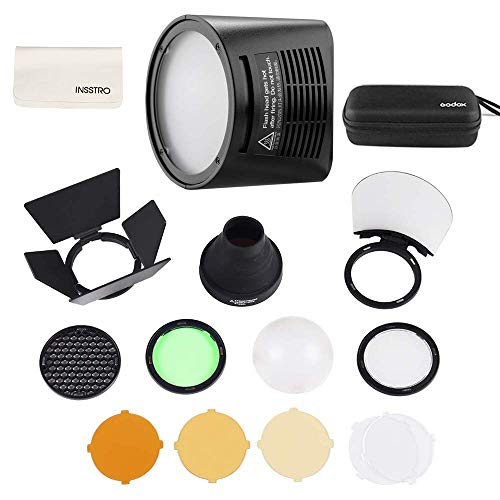 Godox H200R Ring Flash Head for AD200,Godox AK-R1 Accessories Kit for Godox H200R Round Flash Head