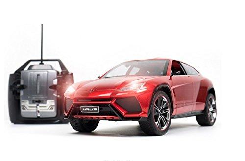 Baby   Child  Lamborghini Urus 1 14 Scale  Radio Remote Control Model Car With Lights  Red