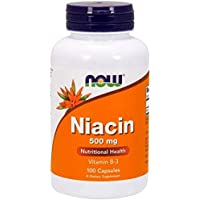 Now Foods ナウフーズ ナイアシン ビタミンb3 500 mg 100カプセル [並行輸入品]