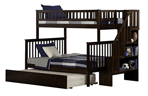 woodland-staircase-bunk-bed-with-urban-trundle-antique-walnut-twin-over-full