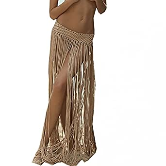 3c33e233dab2b Image Unavailable. Image not available for. Color  Beach Skirt Sexy Fringe  Bathings suit Cover Ups Swimwear ...