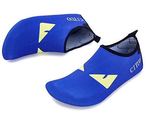 Giotto Barfota Vatten Skor Yoga Strand Simma Aqua Skor För Kvinnor Män A-blå