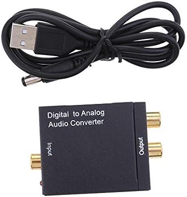 H HILABEE Convertidor Digital A Analógico, SPDIF Coaxial óptico A Cable RCA R/L + DC: Amazon.es: Electrónica