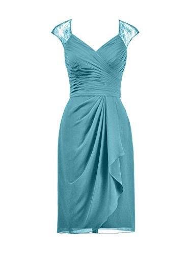 Alicepub Dress Short Neckline Party Turquoise Gown Illusion Cocktail Bridesmaid Evening qCxqrtH