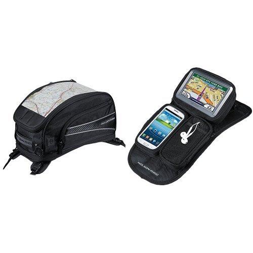 Nelson-Rigg CL-2015-ST Black Strap Mount Journey Sport Tank Bag and  CL-GPS-MG Black Magnetic Mount Journey GPS Mate Bundle