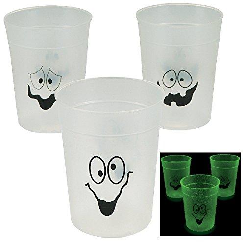 Plastic Glow-in-the-dark Halloween Cups (12 Pack) 4