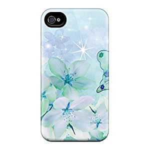 Premium Durable Dreaming In Blues Fashion Tpu Iphone 4/4s Protective Case Cover