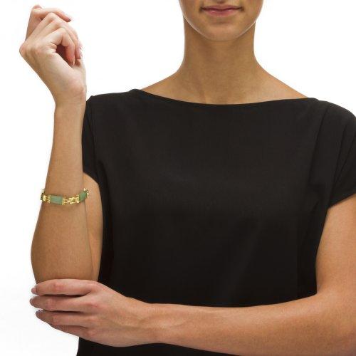 Angelina D'Andrea - Bracelet en argent sterling - finition dorée - jade vert/péridot 1,75 TCW