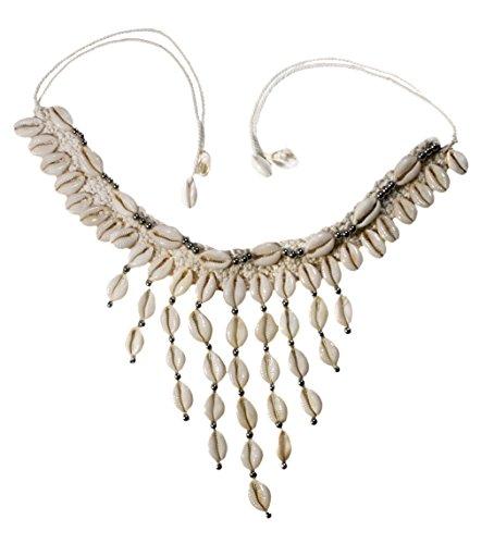 Hippie Shell Necklace (Nesha Cowrie Shell Macrame Necklace Hippie Boho)