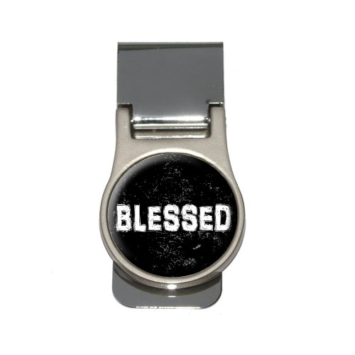 Religious Money Clips (Blessed Distressed - Christian Religious Inspirational Money Clip)