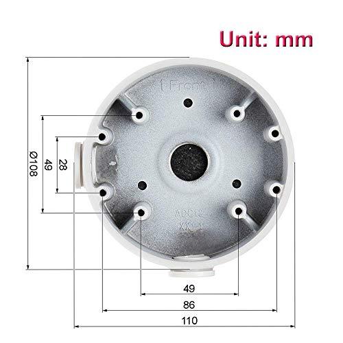 PFA139 Aluminum Alloy Junction Box for Dome IP Camera, IPC-HDW4631C-A, HDW4431EM-AS, HDW4831EM-ASE, HDBW2120/2220/2221F, HDBW2120/2220F-M, HDBW4120/4220/4221/4421F(-AS/-M), HDBW4120/4220/4221F-W