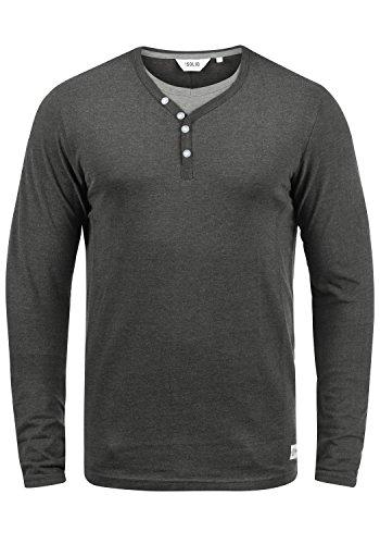 Manches Doriano Tunisien 8288 Homme solid Melange T shirt Dark Grey Longues À xIwqfPnq