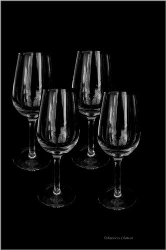 Set 4 Glass 5oz Hand Blown Tawny Port & Sherry Wine Glasses