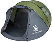 6 Person Easy Pop Up Tent,12.5' x 8.5' x53.5,Automatic Setup,Waterproof, Double Layer,Instant Family Tents for