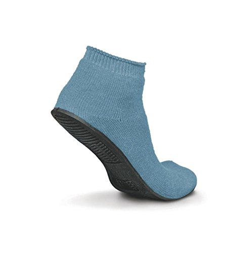 ure-Grip Terrycloth Slippers, Medium, Light Blue (Pack of 12) ()