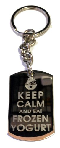 keep-calm-and-eat-frozen-yogurt-metal-ring-key-chain-keychain