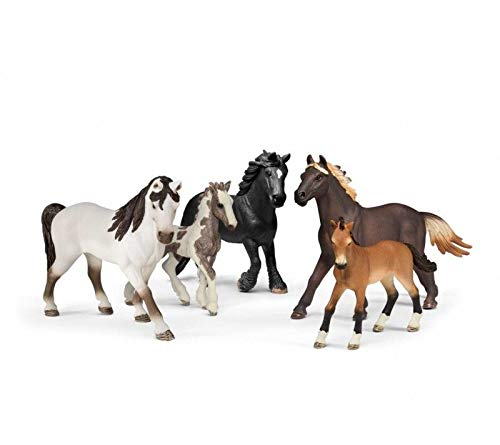 Mare Toy - Schleich 5 Horses Collectors Pack Figurine Toys, Multicolor